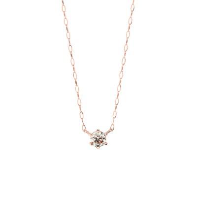 BLOOM ONLINE STORE / 【ESTELLE/エステール】【WEB限定】K18 ピンクゴールド ダイヤモンド ネックレス (0.15ct) WOMEN アクセサリー > ネックレス