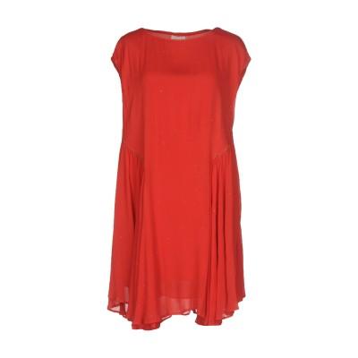 INTROPIA ミニワンピース&ドレス レッド 34 レーヨン 100% ミニワンピース&ドレス