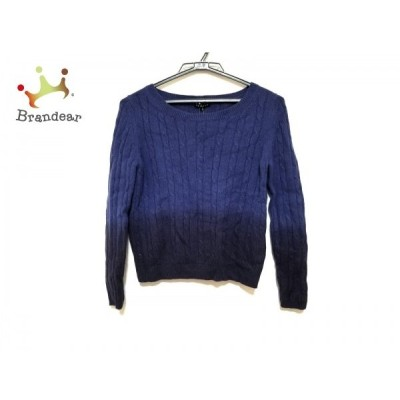 セオリー theory 長袖セーター サイズS レディース 美品 ブルー×ダークネイビー カシミヤ 新着 20200320