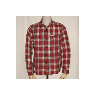 F-SCO-004L-レッドホワイト-ネイティブチェックシャツ004長袖-FSCO004L-FLATHEAD-フラットヘッドワークシャツ-ネイティブシャツ-NATIVE CHECK SHIRT-シャツ長袖