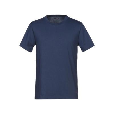 プラスピープル (+) PEOPLE T シャツ ブルー M コットン 100% T シャツ