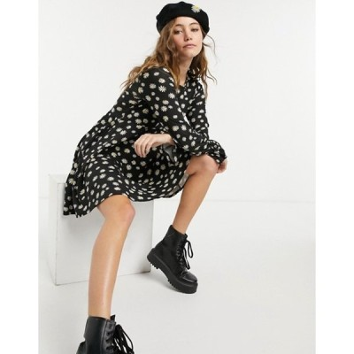 ウェンズデーガール レディース ワンピース トップス Wednesday's Girl mini skater dress in daisy print
