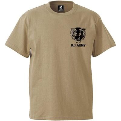 最新カラー7種類 オリジナル USアーミー 迷彩柄 tシャツ サバゲー 服(カーキ タイガー, L)