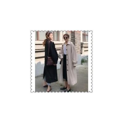 トレンチコート超ロングスプリングコートレディース秋春ゆったりロングカジュアルアウター20代30代40代50代ファッション