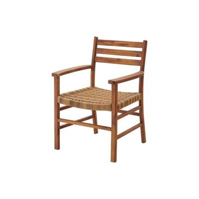 チェア ブラウン 木製 天然木 肘掛け アーム付 ダイニング 店舗 おしゃれ シンプル アジアン ナチュラル モダン チェア 椅子 イス