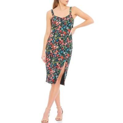 アイダンアイダンマトックス レディース ワンピース トップス Tie Back Floral Print Crepe Dress