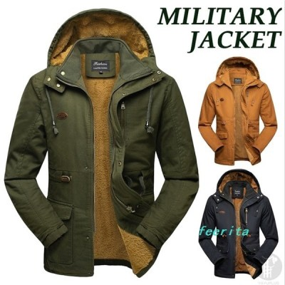 モッズコートミリタリージャケット裏起毛メンズマウンテンパーカージャケットN-2B裏ボアブルゾンジャンバーアウター暖かい防寒