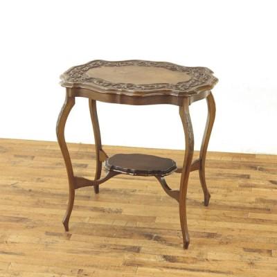 ウィンドウテーブル 繊細なデザイン 美しい彫刻 サイドテーブル イギリスアンティーク家具 アンティークフレックス 56623