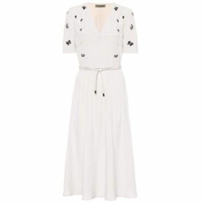 ボッテガ ヴェネタ Bottega Veneta レディース ワンピース ワンピース・ドレス Embroidered crepe dress Mist Nero