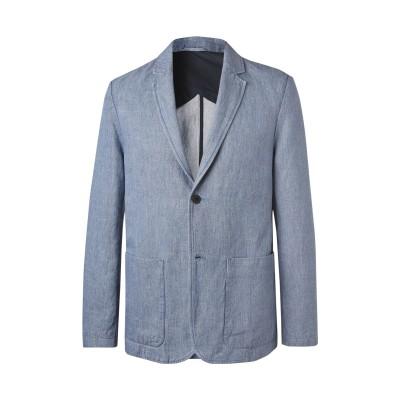 MR P. テーラードジャケット ブルーグレー 40 リネン 70% / コットン 30% テーラードジャケット