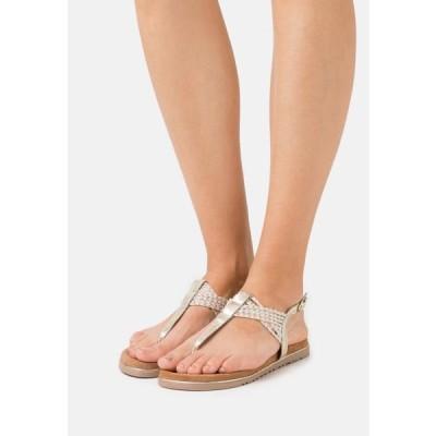 マルコトッツイ レディース 靴 シューズ T-bar sandals - platinum