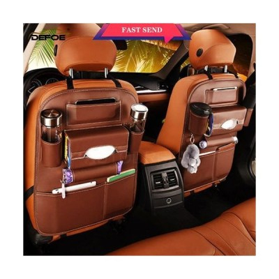 車 収納 シートバッグ 多機能 カーシート ポケット 後部座席  シートホルダー 小物入れ ティッシュ