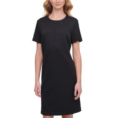 ダナ キャラン ニューヨーク レディース ワンピース トップス Textured Mini Dress