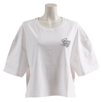 ROXYストリート系ウェアTシャツ 半袖 ロゴ ROXY 70'S 19SPRST191178WHT ホワイト