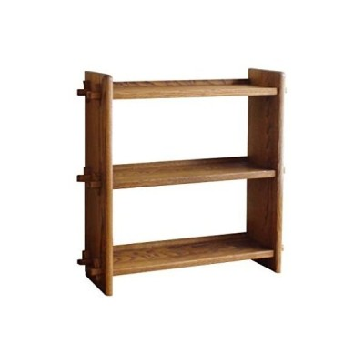 オークヴィレッジ 組み立て棚 3段 ブラウン 幅 65×奥行20.5×高さ62.8cm 50014-11 (ブラウン色 3段)