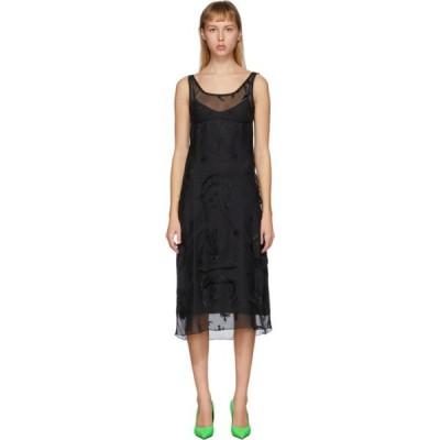 マリーン セル Marine Serre レディース ワンピース ワンピース・ドレス Black Devore Dress Black