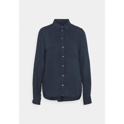 マルコポーロ シャツ レディース トップス BLOUSE BUTTON THROUGH - Button-down blouse - dark night