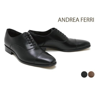 アンドレア フェリ / ANDREA FERRI メンズ ドレスシューズ f15af ストレートチップ(キャップトゥ) ブラック ブラウン イタリア製