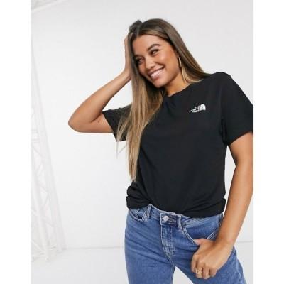 ザ ノースフェイス The North Face レディース Tシャツ トップス Simple Dome t-shirt in black ブラック