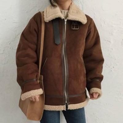 アウター コート ボアコート レディース ボア ショート ミモレ 秋冬 加厚 もこもこ 韓国ファッション ゆったり/C069