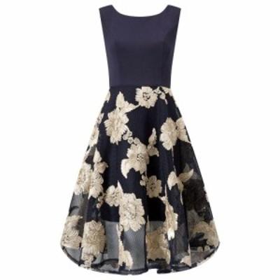アリエラ ロンドン Ariella London レディース ワンピース ワンピース・ドレス Ariella Ashani Tapework Dress NAVY GOLD