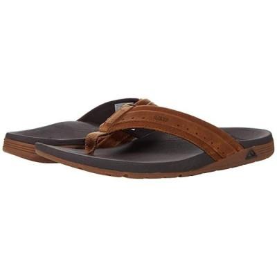 リーフ Leather Ortho-Spring メンズ サンダル Brown