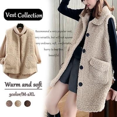 2019新型毛皮一体ラム毛ベスト女性秋冬ジャケット女性毛绒ベスト暖かくて柔らかくて品質がいいです
