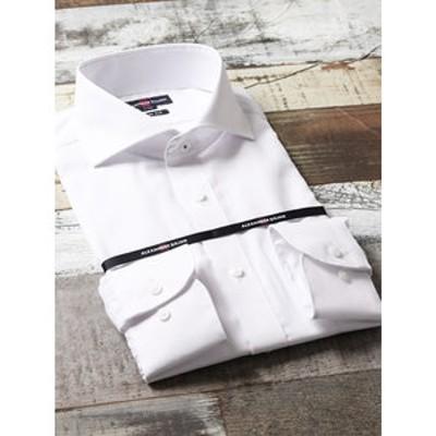 形態安定抗菌防臭スリムフィット カッタウェイ長袖ビジネスドレスシャツ/ワイシャツ