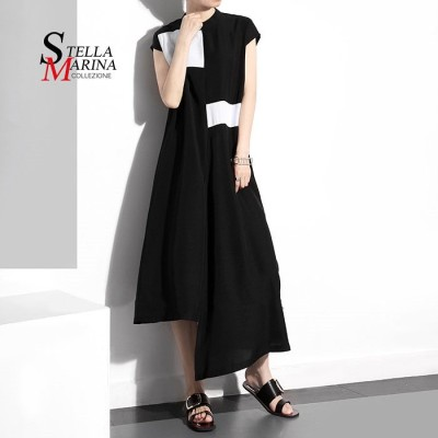 袖なし ゆったりワンピース 超人気  イタリア・スタイル  ワンピース トップス  韓国ファッション 1333