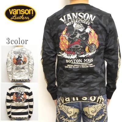 バンソン VANSON TOM and JERRY TJV-925 天竺 長袖Tシャツ ロンT トム&ジェリー トップス メンズ