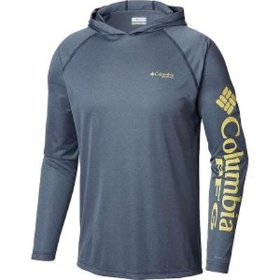 コロンビア メンズ シャツ トップス Columbia Men's Terminal Tackle Heather Hoodie Carbon Heather / Sunlit Logo