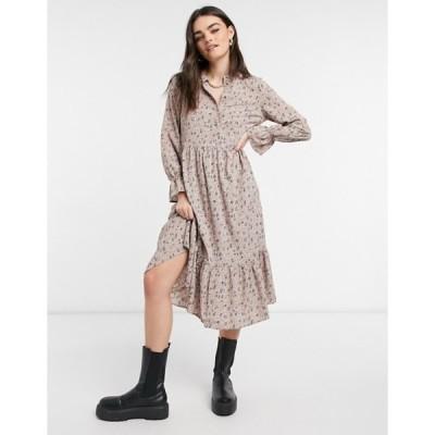 ヴェロモーダ レディース ワンピース トップス Vero Moda exclusive midi dress with tiered skirt in mixed ditsy floral