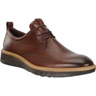 エコー メンズ スニーカー シューズ Men's ECCO ST1 Hybrid Plain Toe Sneaker Cognac Leather