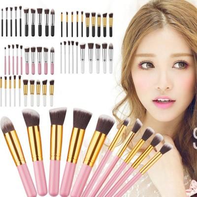 メイクブラシセット 10本セット やわらかい本格化粧ブラシ 化粧筆 ファンデーションブラシ 通常送料無料