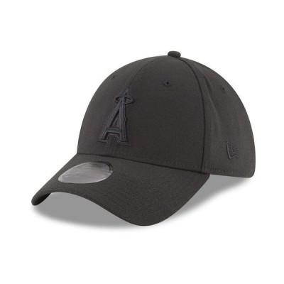 ニューエラ 帽子 アクセサリー メンズ Los Angeles Angels Blackout 39THIRTY Cap Black