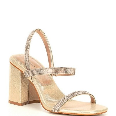 チェルシーアンドバイオレット レディース サンダル シューズ Girli Rhinestone Block Heel Sandals