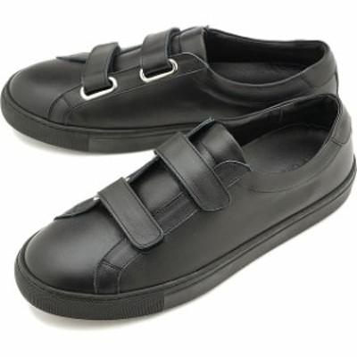 ヨーク YOAK 国産スニーカー ルーク LUKE [ SS20] メンズ 日本製 ベルクロ レザーシューズ 靴 BLACK ブラック系