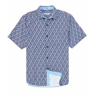 トッミーバハマ メンズ シャツ トップス IslandZone Costa Geo Short-Sleeve Woven Shirt Bering Blue
