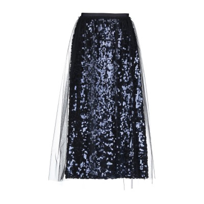 ブルマリン BLUMARINE ロングスカート ダークブルー 40 ポリエーテル 100% / ナイロン ロングスカート
