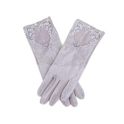 【Carinapicco(カリーナピッコ)】手袋 UV 夏 紫外線対策 スマホ対応 レディース 日焼け止め メッシュ 薄手 レース ?