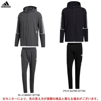 adidas(アディダス)プレーヤー 3ストライプス ウインドブレーカージャケット  パンツ 上下セット(JLT62/ELG32)トレーニング ウェア メンズ