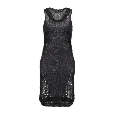 REBEL QUEEN by LIU •JO ミニワンピース&ドレス ブラック 42 アクリル 83% / ポリエステル 9% / コットン 7%