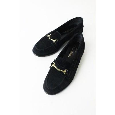 定価3.1万 DIEGO BELLNI ディエゴ ベリーニ ビット ローファー 36/ブラック スエードレザー 靴 2400010957178 nsg