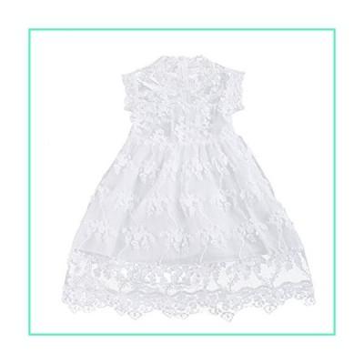 OBEEII Kid Girl Embroidery Flower Summer Sleeveless Dress Princess Wedding Party Casual 5Y White並行輸入品