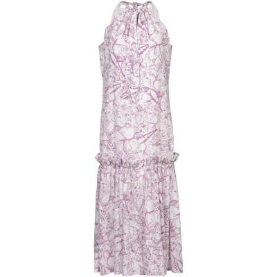 ティビ TIBI 7分丈ワンピース・ドレス パープル 0 シルク 100% 7分丈ワンピース・ドレス