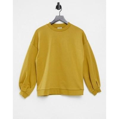ヴェロモーダ レディース シャツ トップス Vero Moda Aware sweatshirt in mustard