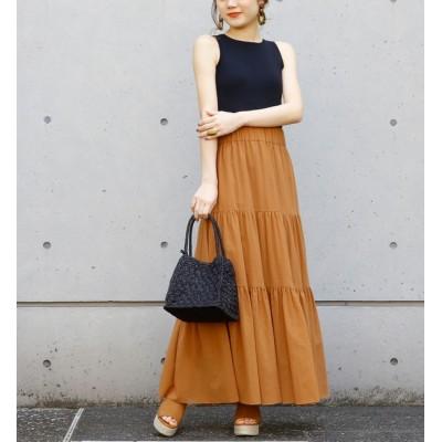 【リエス/Liesse】 コットンシフォンティアードロングスカート