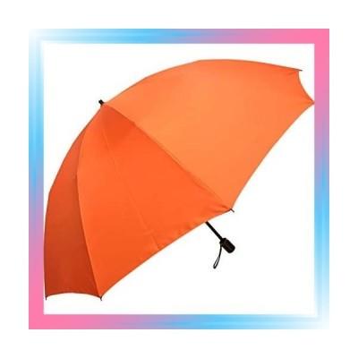 オレンジ 大きい 折りたたみ傘 メンズ風に強い10本骨 昔ながらの