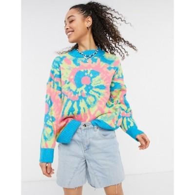 エイソス レディース ニット・セーター アウター ASOS DESIGN sweater with tie dye pattern