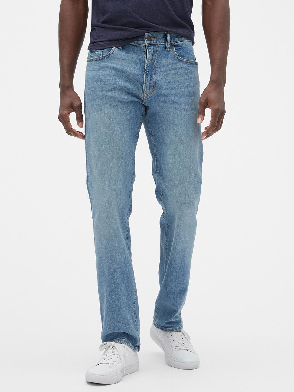 男裝 棉質水洗彈力牛仔褲